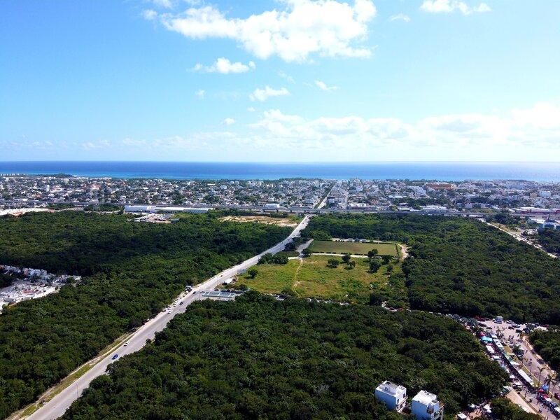 Aerial view, Playa del Carmen