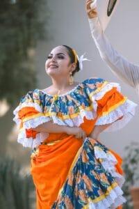 Mexican woman dancing