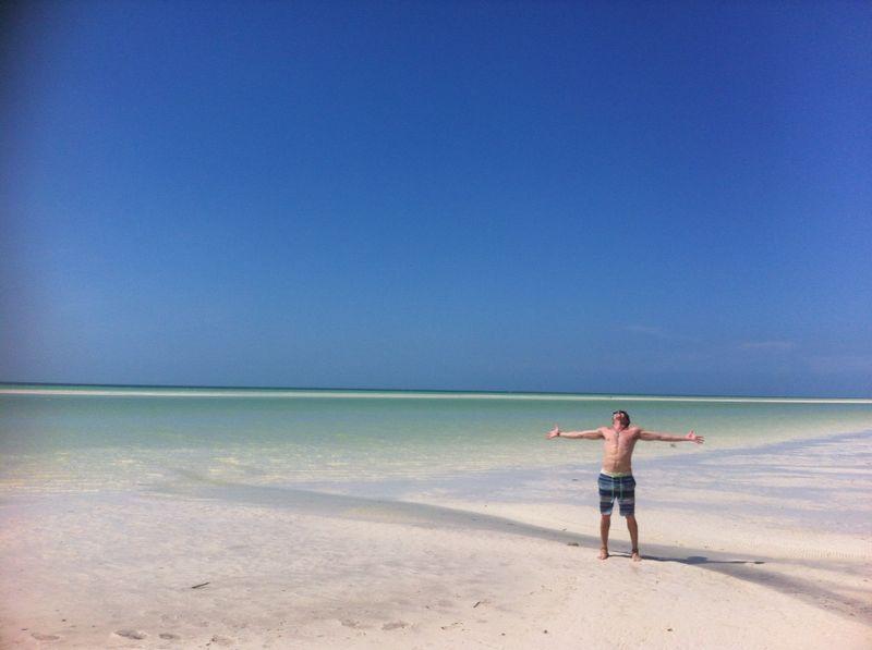 Digital Nomad takes Break from work, Playa del Carmen.