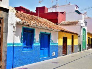 Facades Of Houses, Puerto De La Cruz