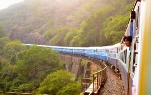 On a train through Goa