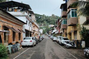A vibrant side street, Goa