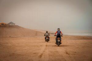 Riding on the Skeleton Coast, Swakopmund, Namibia.